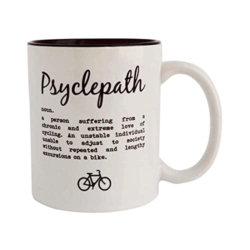 Psyclepath - Funny Cycling Definition - Funny Cycling Mug, Gift for Cyclist, Cycling Gifts, Cyclist Mugs, Cycling Mugs