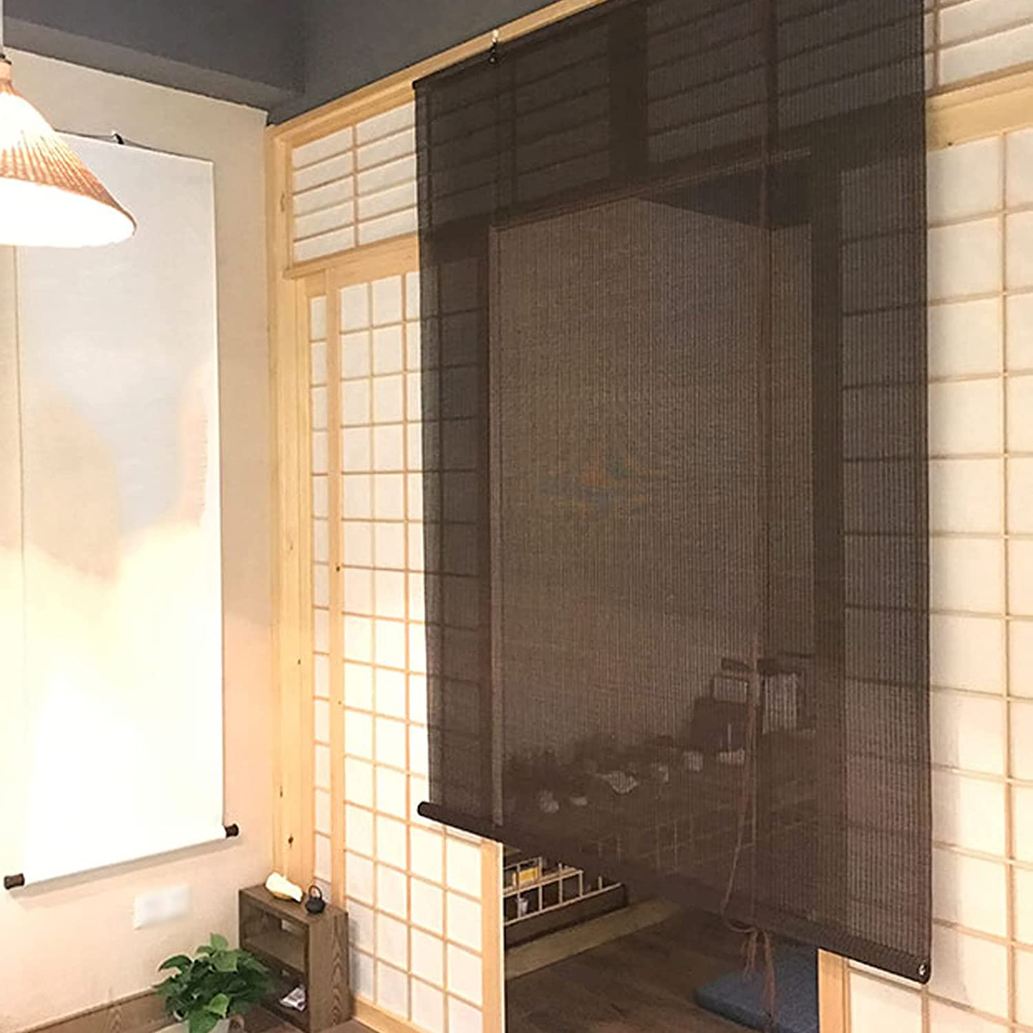 Zlovne Black Max 51% OFFicial OFF Bamboo Roll Up with Lifter Window Blinds Ba