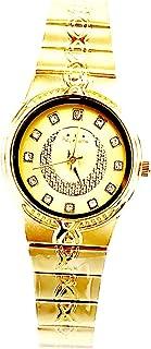ساعة اديماكس للنساء - انالوج كوارتز - سوار ستانلس ستيل مينا ذهبية -sl804