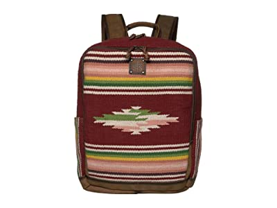 STS Ranchwear Buffalo Girl Serape Backpack (Maroon/Pink/Green) Bags
