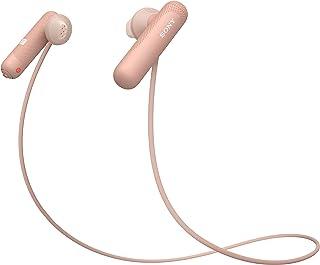 索尼 无线运动耳机 带噪音降噪 包括充电盒(IPX4 防水,额外低音)粉色WISP500P.CE7