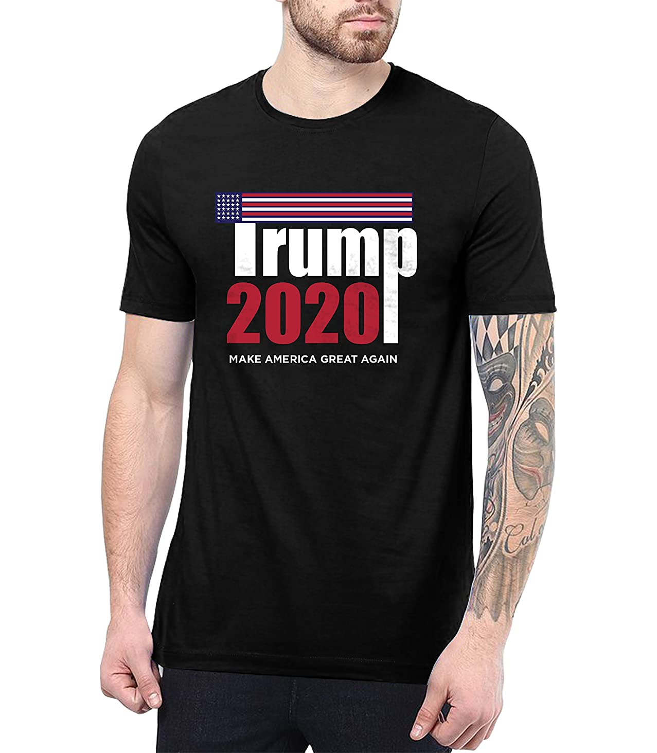 President Donald Trump 2020 Shirt US Flag - Make America Great Again Shirt for Men