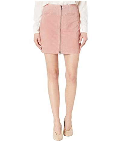 Blank NYC Real Suede Skirt with Zipper Detail in Pink Pearl (Pink Pearl) Women