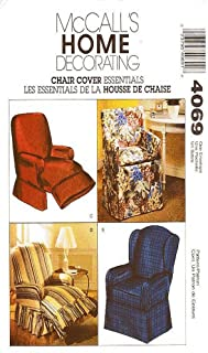 OOP McCall's Home Decorating Pattern 4069. Chair Covers For: Directors Chair; Wingback Chair; & Recliner Chair