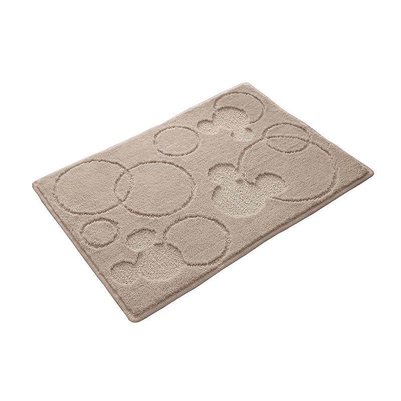 いらいらする調整エラー[ベルメゾン] ディズニー 吸水速乾コスモトロン(R)のバスマット ミッキーマウス ベージュ サイズ(cm):約65×85
