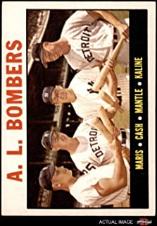 1964 Topps # 331 AL Bombers Mickey Mantle/Al Kaline/Roger Maris/Norm Cash 2 - Yankees / 2 - Tigers (Baseball Card) Dean's Cards 4 - VG/EX 2 - Yankees / 2 - Tigers