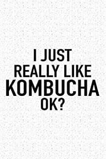 I Just Really Like Kombucha Ok?: A 6x9 Inch Matte Softcover Journal Notebook With 120 Blank Lined Pages And A Funny Sarcastic Cover Slogan
