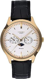 Cauny | Montre Analoguique pour Homme | Legacy Moon-Phase Multifunctions Gold | Mouvement Quartz| Fonction Chronographe av...