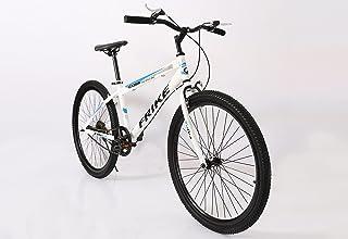 دراجة جابلية من الصلب الكربوني 1 سرعة للبالغين 26 بوصة، أبيض وأزرق
