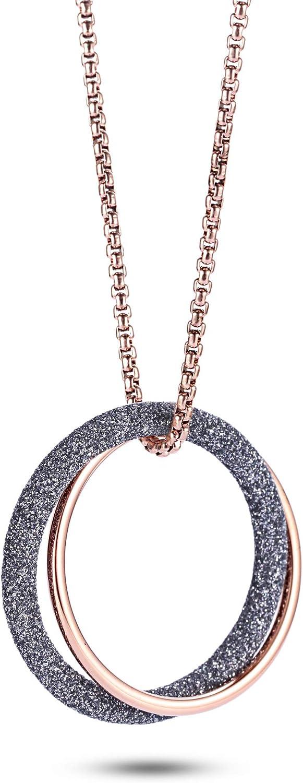 NanoStyle Interlocking Gifts Circle Necklace Stardust Pendant New product! New type Infinity