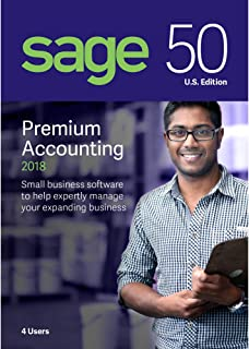 Sage Software Sage 50 Premium Accounting 2018 U.S. 4-User (4-Users)