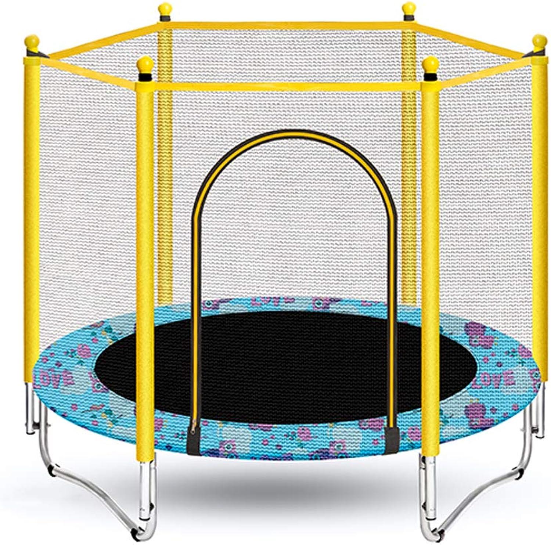GSH- Trampoline Trampolin Sprungmatte No-Gap Design, mit Stange und Schutznetz, Sicherheitsnetz, Bezug, 200 kg, 140 cm