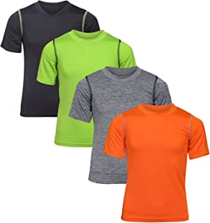 Boy's Performance Dry-Fit T-Shirts (4 Pack)