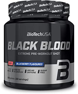 BioTechUSA Black Blood CAF+, Radical before workout formula, with 400 mg caffeine, with NOX complex content, without creat...