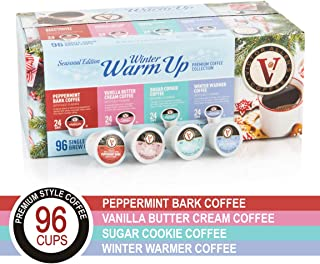 Winter Warm Up Seasonal Edition for K-Cup Keurig 2.0 Brewers, 96 Count Victor Allen's Coffee Single Serve Coffee Pods