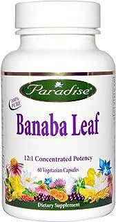 Paradise Herbs, Banaba Leaf, 60 Vegetarian Capsules