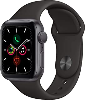 Apple MWV82LL/A 5.12 Watch Series 5 (GPS, 40mm) - Space Grey Aluminium Case with Black Sport Band - (Pack of1)