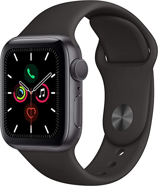 Apple Watch Series 5 GPS 40mm Space Gray Aluminum Case With Black Sport Band