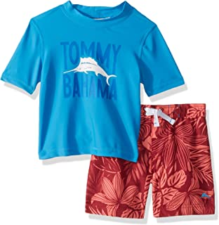 Tommy Bahama Boys' Rashguard and Trunks Swimsuit Set