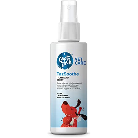 Captain Zack TazSoothe Itch Relief Spray - No Itch Spray for Dogs for Daily Use, 50 ml