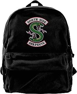 WUHONZS Canvas Backpack Riverdale Fans Riverdale Serpents Southside Rucksack Gym Hiking Laptop Shoulder Bag Daypack for Men Women
