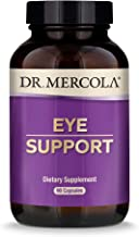 Dr. Mercola, Eye Support with 10 mg of Lutein Dietary Supplement, 90 Servings (90 Capsules), Non GMO, Gluten Free