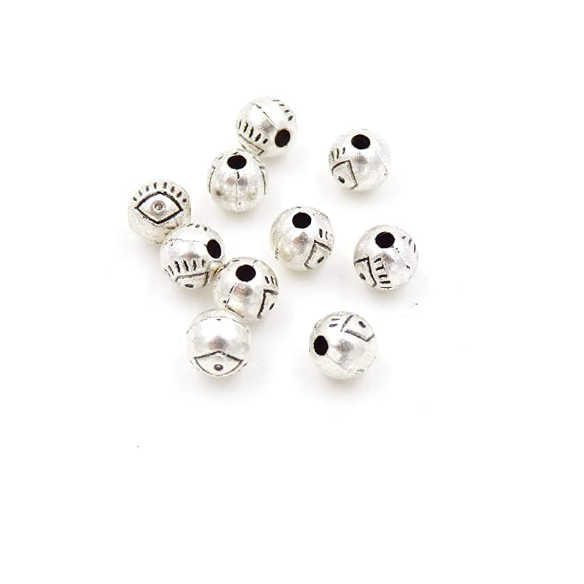 Malahill Metal Beads for Jewelry Making, Charms for jewlery, Sold per Bag 200pcs Inside, Round Beads 6mm