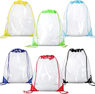 clear drawstring bags