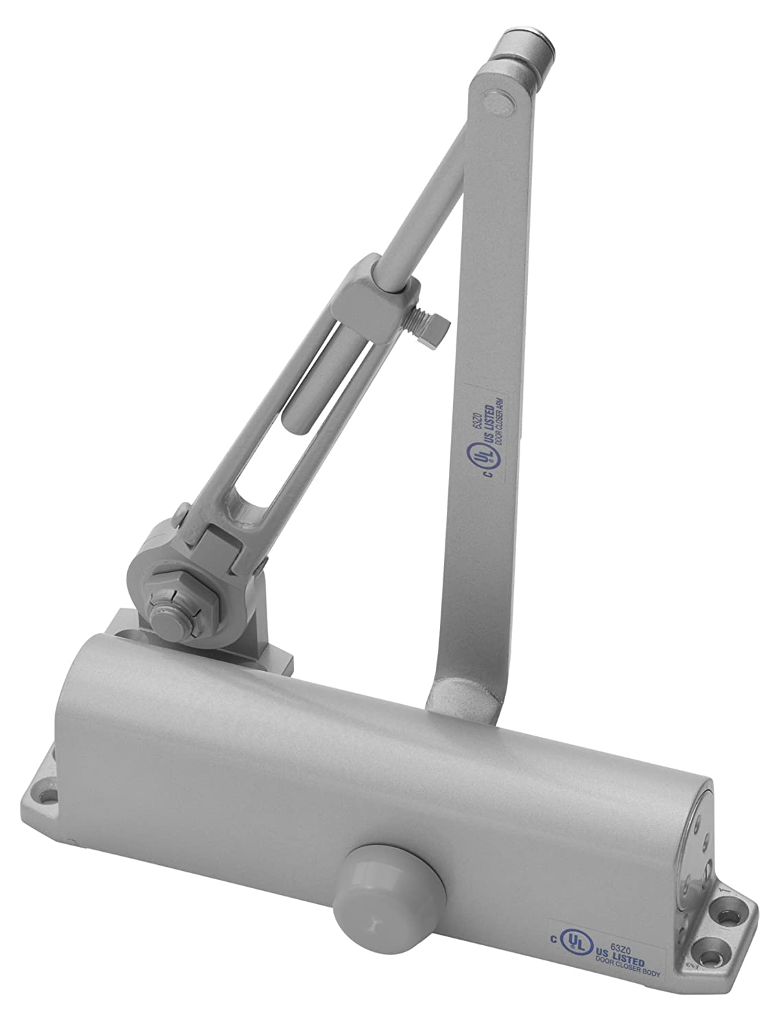 Yale 1111BF x 689 Door Closers, Aluminum Body, 689 Painted Aluminum Finish, Hold Open Arm, Door Sizes 1 to 4