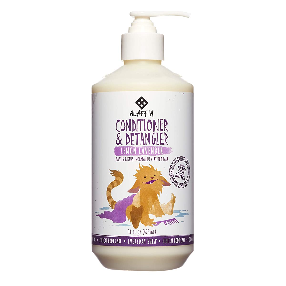 称賛罰小説Everyday Shea, Conditioner & DeTangler, Lemon Lavender, 16 fl oz (475 ml)