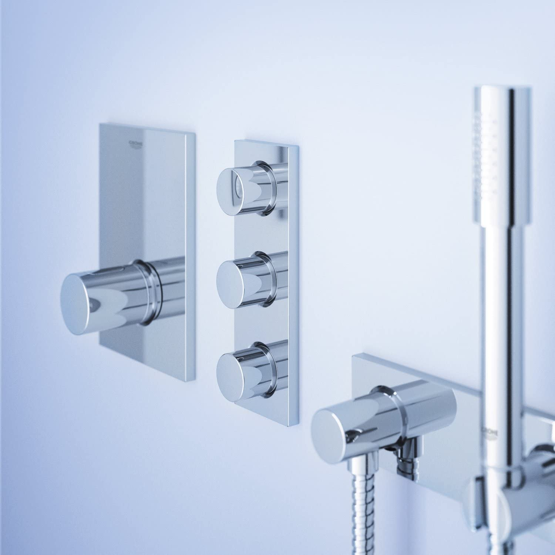 Grohtherm F Single Handle Volume Control Trim With Round Handle Faucet Trim Kits Amazon Com