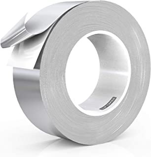 LLPT Aluminum Foil Tape 2 Inches x 55 Yards 3.94 Mil High Temp Heavy Duty Adhesive HVAC Sealing Hot Cold Air Duct Tape for...