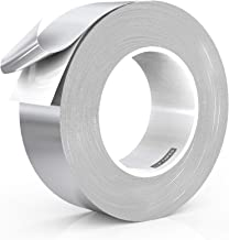 LLPT Aluminum Foil Tape 2 Inches x 108 Feet 5.9 Mil Extra Thick Strong Adhesive HVAC Sealing Hot Cold Air Duct Tape for Pipe Metal Repair