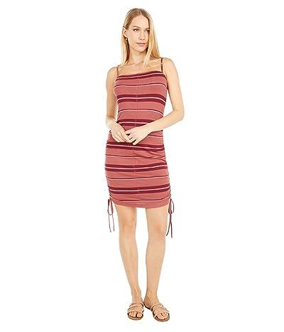 Hurley Malia Rib Dress (Claystone Red) Women