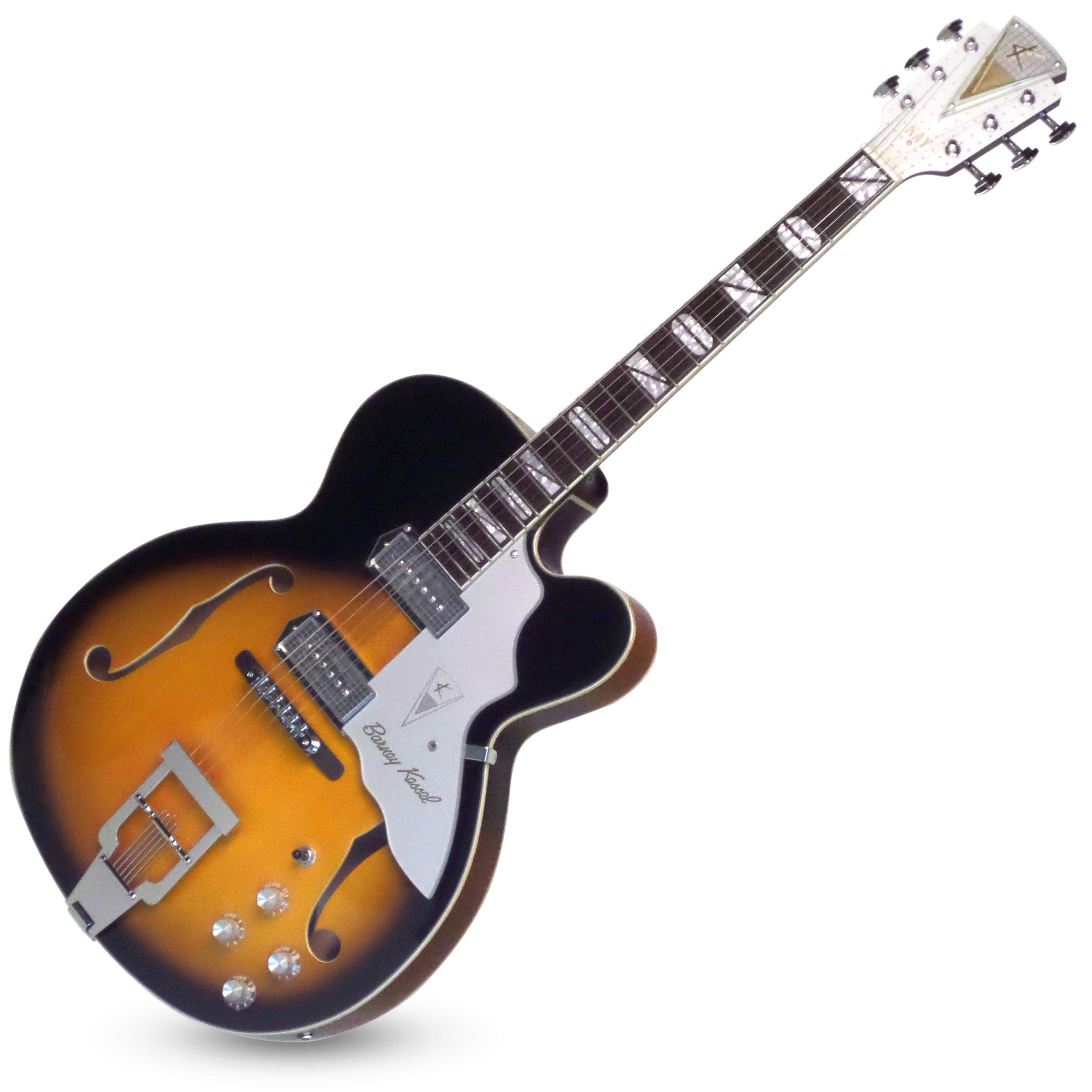 Cheap Kay Reissue 1957 Barney Kessel Jazz Special Electric Guitar Limited Production Signature Edition & Case - Sunburst (K8700VTS) Black Friday & Cyber Monday 2019