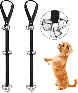 mikesinuo Dog Doorbells Premium Quality for Housebreaking Your Doggy Dogs and House Training Dog Doorbells Adjustable Door Bell Dog