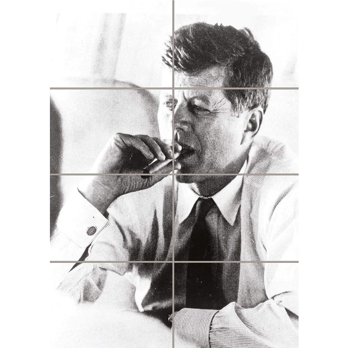 PANEL ART PRINT VINTAGE PHOTOGRAPH PRESIDENT JOHN KENNEDY SMOKE CIGAR JFK USA REPRODUCTION POSTER OZ4758