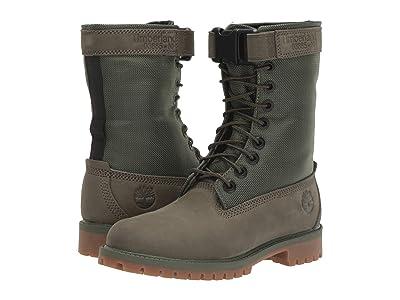Timberland Kids 6 Premium Gaiter Boot (Big Kid) (Dark Green Nubuck) Kids Shoes