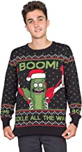 Ripple Junction Rick and Morty Boom! PickleRick Adult Ugly Christmas Sweater