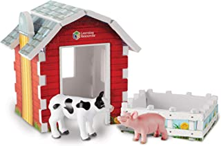 Learning Resources Jumbo Farm Foam Play Set, Contains Pig, Cow, Barn, Pen, 14 Pieces, Ages 3+