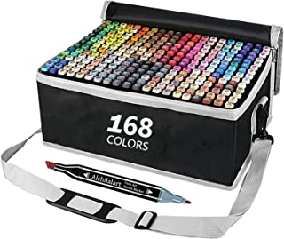 Haundry 168 Colours Graffiti Pen Permanent Marker Pens Set Twin Tip Highlighter Adults and Children Drawing Set for Drawin...