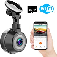 Dash Cam WiFi, WIMIUS 1080p Full HD Dash Camera for Cars, Magnetic Car Camera with Loop Recording, G-Senor, WDR Night Vision, Motion Detection, Parking Monitor, 32G SD Card Included