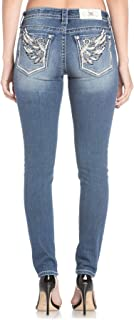 Women's Medium Floral Wing Skinny Jeans