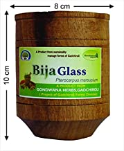 Vijaysar Herbal Tumbler Control Diabetes& Sugar Ayurvedic Wood Glass bija Glass Indian Kino Tree