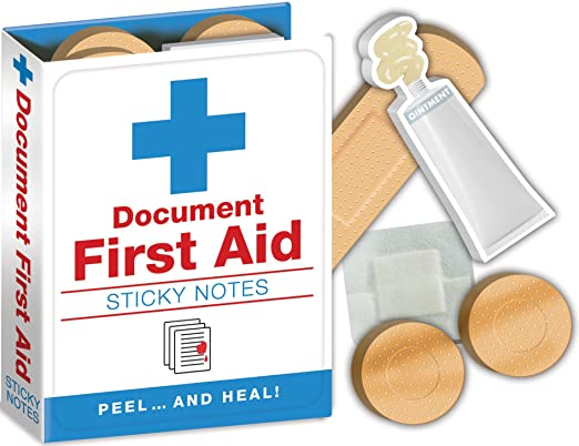 First Aid Notes - Hospital Themed Sticky Notes Booklet