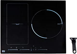 NJ HBBQ-60 Cocina de inducción incorporada 60 cm Hob eléctrica 3 zonas Zona de flexión Control tactil Negro