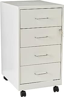 Lorell LLR19537 4 Drawer File Cabinet, White