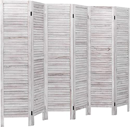 high quality Giantex discount 6 Panel Wood Room Divider, 5.6 Ft Tall Oriental Folding lowest Freestanding Partition Privicy Room Dividers Screen for Home, Office, Restaurant, Bedroom (White) online sale