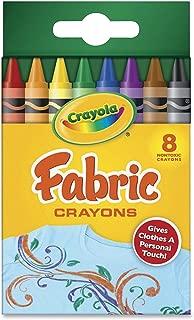 布にお絵描きできるクレヨン Crayola Fabric Crayons クレヨラ・ファブリック・クレヨン 8色セット [並行輸入品]