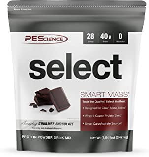 PEScience Select Smart Mass, Gourmet Chocolate, 28 Servings, Clean Mass Gainer Powder